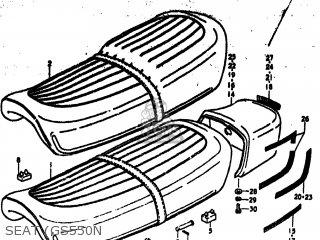Suzuki Gs550 1977 (b) Usa (e03) parts list partsmanual