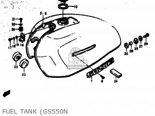 Suzuki Gs550 1978 (c) Usa (e03) parts list partsmanual