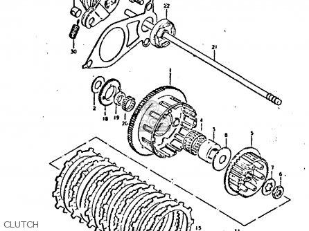 Suzuki Gs550 1980 (et) parts list partsmanual partsfiche