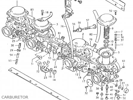 Suzuki Gs550 1980 (lt) parts list partsmanual partsfiche