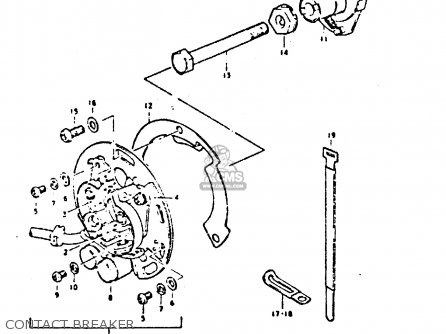 Suzuki GS550 1980 (T) GENERAL EXPORT (E01) parts lists and