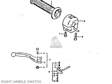Suzuki Gs550 1980 (t) General Export (e01) parts list