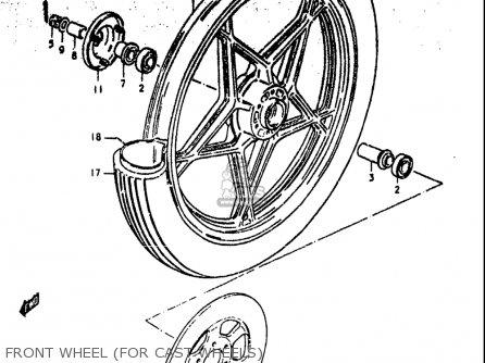 Suzuki GS550 1980 (T) USA (E03) parts lists and schematics