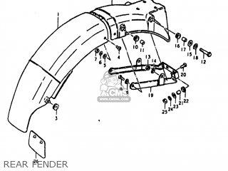 Suzuki Gs550 1980 (t) Usa (e03) parts list partsmanual