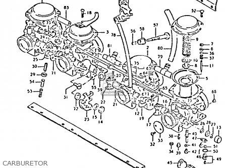 Suzuki Gs550 1981 (ex) parts list partsmanual partsfiche