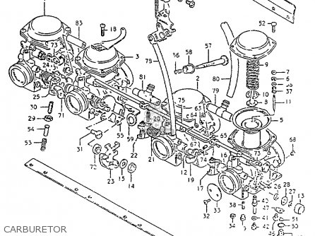 Suzuki Gs550 1981 (lx) parts list partsmanual partsfiche