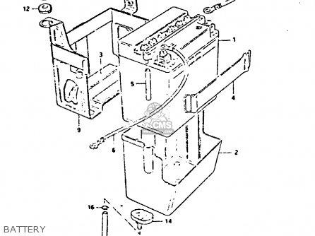 Suzuki Gs550 1981 (x) parts list partsmanual partsfiche