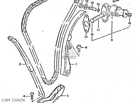 Suzuki Gs550 1981 (x) General Export (e01) parts list