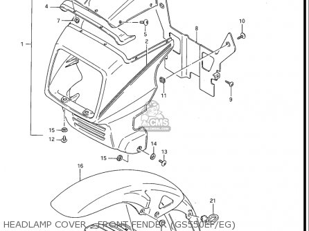Suzuki Gs550 Es 3,ese,ef,esf,esg,83-86 (usa) parts list
