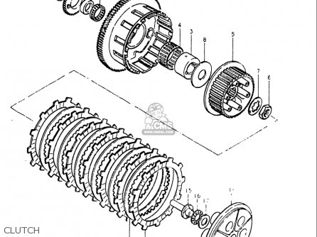 Suzuki Gs550 L 1979 (usa) parts list partsmanual partsfiche