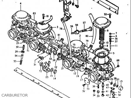 Suzuki Gs550 L 1980 (usa) parts list partsmanual partsfiche