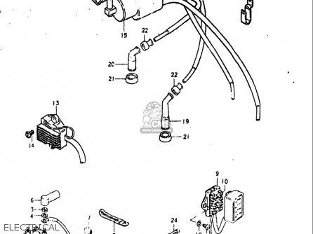 Suzuki Gs550 L 1980 (usa) parts list partsmanual partsfiche