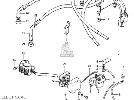 Suzuki Gs550 L 1981-1982 (usa) parts list partsmanual