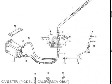 Suzuki Gs550 L 1985-1986 (usa) parts list partsmanual