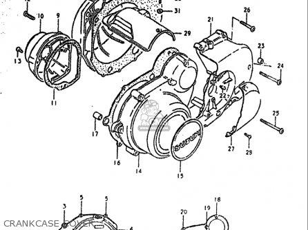 Suzuki Gs550 T 1981 (usa) parts list partsmanual partsfiche