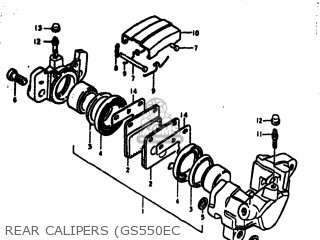 Suzuki Gs550e 1979 (n) Usa (e03) parts list partsmanual