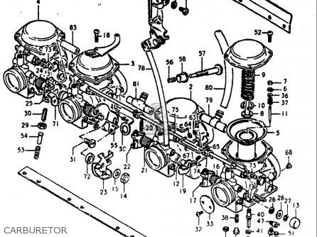 Suzuki Gs550 ,e 1980 (usa) parts list partsmanual partsfiche
