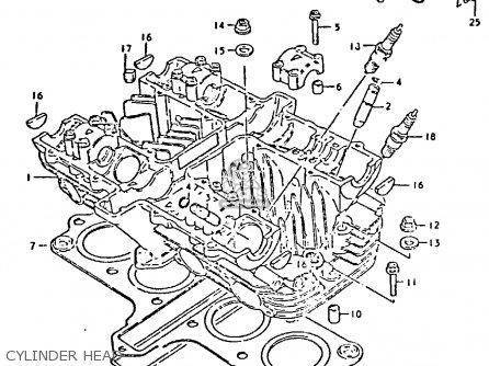 Suzuki GS550E 1981 (X) (E01 E02 E04 E18 E21 E22 E24 E25