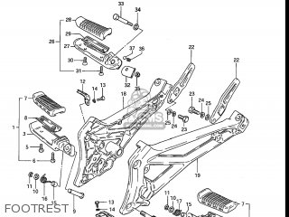 Suzuki Gs550e 1983 (d) Usa (e03) parts list partsmanual