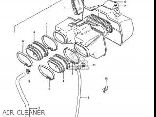 Suzuki GS550EF 1985 (F) USA (E03) parts lists and schematics