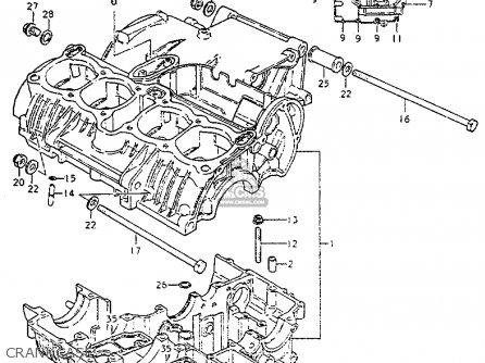 Suzuki GS550L 1981 (X) (E01 E02 E04 E21 E22 E24 E25 E26