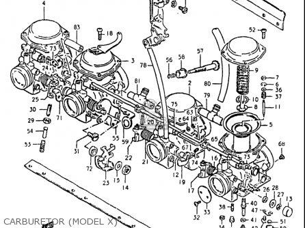 Suzuki Gs550l 1981 (x) Usa (e03) parts list partsmanual