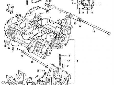 Suzuki GS550L 1981 (X) USA (E03) parts lists and schematics