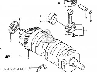 Suzuki Gs550l 1983 (d) Usa (e03) parts list partsmanual