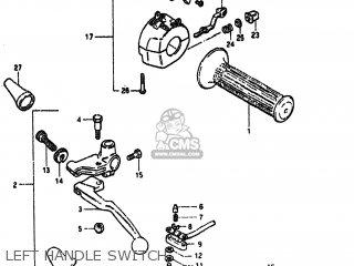 Suzuki GS550T 1981 (X) USA (E03) parts lists and schematics