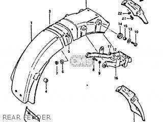 Suzuki Gs650 1981 (gtx) parts list partsmanual partsfiche