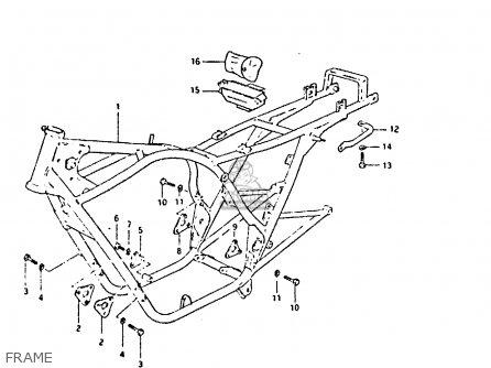 Suzuki Gs650 1981 (gx) parts list partsmanual partsfiche