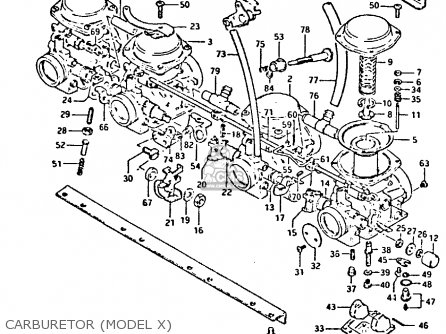 Suzuki Gs650 1982 (gz) parts list partsmanual partsfiche