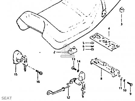 Suzuki Gs650 1982 (gz) parts list partsmanual partsfiche