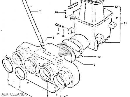 Suzuki Gs650 1983 (gtd) parts list partsmanual partsfiche