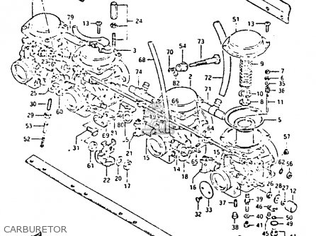 Suzuki Gs650 1983 (gtd) parts list partsmanual partsfiche