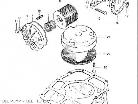 Suzuki Gs650e 1981-1982 (usa) parts list partsmanual