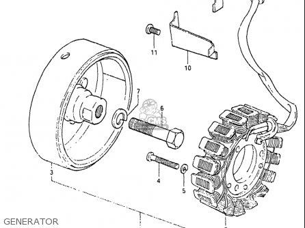 Suzuki Gs650g 1981-1982 (usa) parts list partsmanual