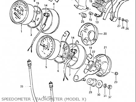 Suzuki Gs650g 1981-1982 (usa) parts list partsmanual