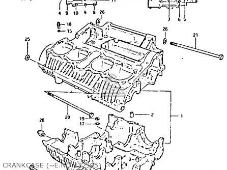 Suzuki GS650G 1981 (X) (E01 E02 E04 E06 E16 E18 E21 E22