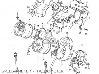 Suzuki Gs650g 1983 (d) Usa (e03) parts list partsmanual
