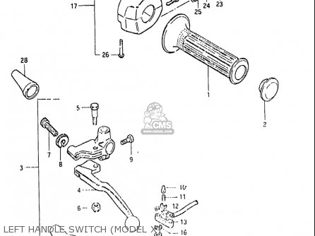 Suzuki Gs650gl 1981-1982 (usa) parts list partsmanual