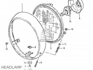 Suzuki Gs650gl 1981 (x) Usa (e03) parts list partsmanual