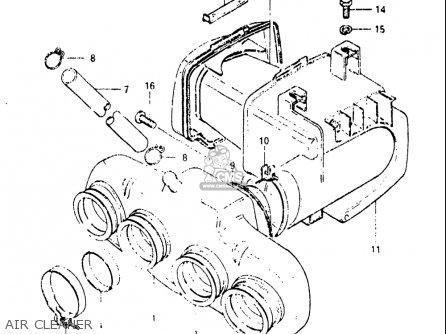 Suzuki Gs650m 1983 (usa) parts list partsmanual partsfiche
