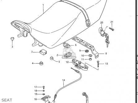 Suzuki Gs700 E , Es, 1985 (usa) parts list partsmanual