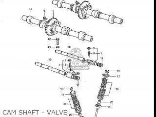 Suzuki Gs700e 1985 (f) Usa (e03) parts list partsmanual
