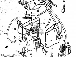 Suzuki GS750 1977 (B) USA (E03) parts lists and schematics