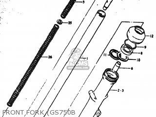 Suzuki GS750 1977 (B) USA (E03) parts lists and schematics