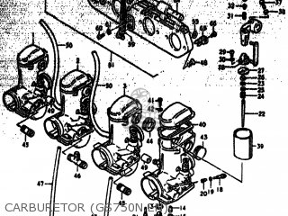 Suzuki Gs750 1979 (n) Usa (e03) parts list partsmanual