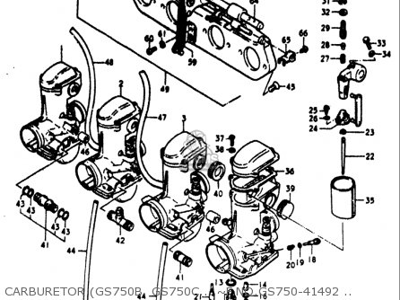 Suzuki Gs750 B,c,ec,n,en 1977-1979 (usa) parts list