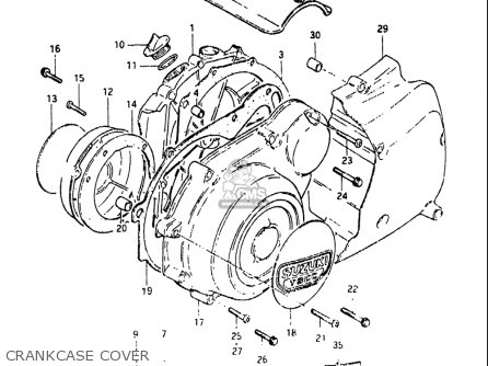 Suzuki Gs750 E 1980-1981 (usa) parts list partsmanual